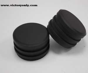 Cam Bolt Covers Finned Aluminum Round All Black