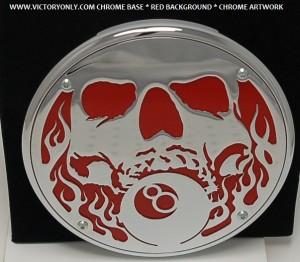 SKULLCHROME BASE RED BACKGROUND CHROME ART