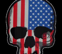 USA SKULL PATCH
