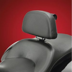 Victory Cross series with its own custom engineered driver backrest system. The generous 12 3/8'' x 7'' full support pad provides superior comfort and support. Its unique hinged design and adjustable tongue allow for 1'' of vertical adjustment as well as 3'' of horizontal positioning to help match your desired fitment. A convenient removable storage pouch snaps to the back face. A complete removable design for the Victory allows quick detachment of the backrest with the hidden mount. Designed to fit the Victory 2010 and newer Cross Country/Cross Roads/Cross Tour/Magnum and Hardball driver seats. Uses existing OEM backrest hole, so no cutting of seat is required. Made in the USA. Smart Mount Backrest for Victory Cross Bikes