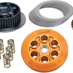 CLUTCH KIT SCORPION VICTORY Feature a 100% or more increase in clutch surface area (compared to stock) and include a CNC-machined billet aluminum pressure plate, friction plates, steel plates, a steel inner hub and additional sets of coil springs to allow for clutch tuning