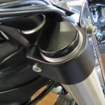Victory Motorcycle Flat Black and Brilliant Chrome steel FORK CAP COVER models 2008 to current with HEX nut capped forks