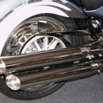 victory motorcycle Exhaust Slip on Slash Black or Chrome