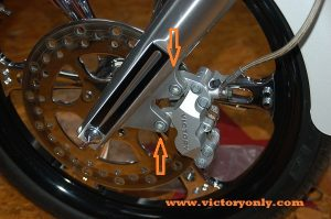 brake caliper bolt chrome victory motorcycle front victory 002