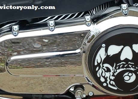steel bolts candy white victory motorcycle cam cover derby cover Vegas, Hammer, Jackpot, Kingpin, Cross Country, Cross Roads, Kingpin Judge, Gunner, Highball, Boardwalk