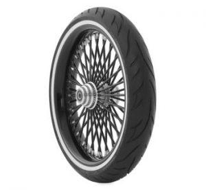 cross country whitewall front tire Avon Cobra Tire AV71, 120/70-21, Bias, Front, 68V Whitewall