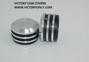 Cam Tensioner Adjuster Covers Victory Motorcycle Cam Tensioner Adjuster from 2002 to 2014. Note picture with arrows shows stock cam adjustor and not item selling. Selling is set of 2 with fins to match motor. Custom Accessory Covers fit Victory Boardwalk, Victory Hammer, Victory Judge, Victory Kingpin, Victory Cross Roads, Victory Vegas, Victory 8Ball, Victory Jackpot, Victory Highball, Victory Judge, Victory Gunner, Victory Hardball and all Victory Freedom motors 100 cu or 106 cu with those bare ugly came chain adjusters.