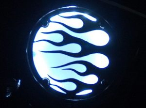 Lighted Engine Cover, Flame