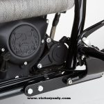 tall rider these foot peg extensions will make your life much easier. They simply bolt to your frame and move your foot peg mounts 2 inches forward. Installation is easy enough for anyone with medium level mechanical skills. The kit includes mounts, bolts, extended shift rod & instructions.