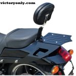 LUGGAGE RACK FOR VICTORY HAMMER AND JACKPOT AVAILABLE WITH OR WITHOUT OUR BACKREST. CAD DESIGNED. POWDER COATED BLACK FINISH. * THESE FIT 2003-2016 MODEL YEARS WITH INSTALLED PASSENGER SEAT. * THIS LUGGAGE RACK WILL WORK WITH A FACTORY VICTORY BACK REST OR USE OURS! * ADD OUR DOCKING KIT IF YOU ARE USING THE VICTORY OR EDGE QUICK RELEASE SADDLE BAG BRACKETS.