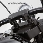 victory motorcycle handlebar adaptor for harley davisdon bars black custom