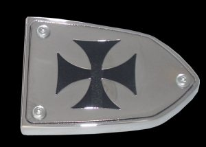 Victory Reservoir Cover Iron Cross Clutch or Brake Side black chrome Victory Parts