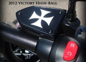 Reservoir Cover Iron Cross Clutch or Brake Side Victory Motorcycle Parts VictoryReservoir Cover Iron Cross Clutch or Brake Side