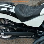 solo seat victory motorcycle white stitch solo seat diamond pattern installed