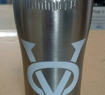 large_white_logo Insulated Cup 20 ounce Stainless