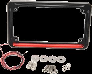 led tag mount frame 3rd brake light black