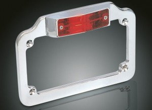 lighted plate frame chrome extra bright stop or running light