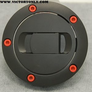 CANDY STEEL ORANGE BOLTS VICTORY MOTORCYCLE GAS TANK LID