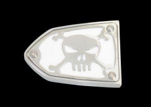 Reservoir Cover Skull and Bones Clutch or Brake Side
