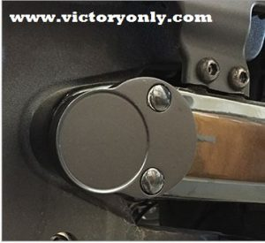 Billet Aluminum Victory Motorcycle Octane Swing Arm Pivot Bolt Cover