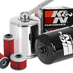 victory motorcycle oil filter chrome black