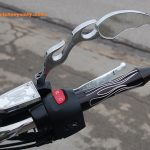 rapter mirror flame head victory motorcycle chrome custom 001