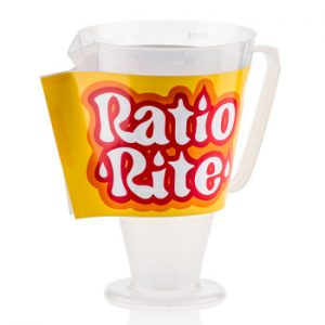 Ratio rite mixing cup - measuring cup