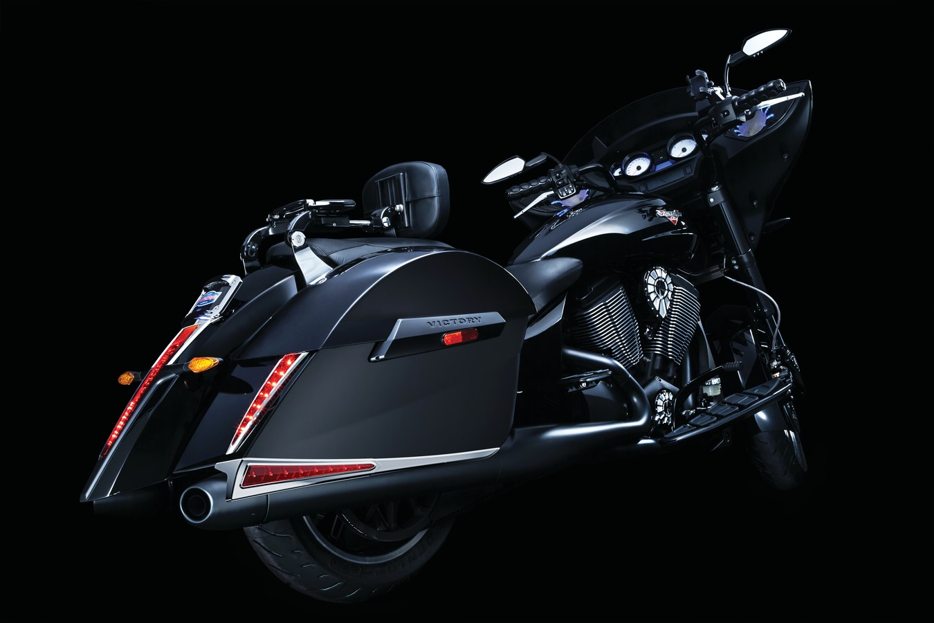 Saddlebag Led Accent Lights Chrome Black Victory Only Lighting Wiring Diagram Bring Some Bite To Your Bike Designed Compliment The Body Lines Of Oem