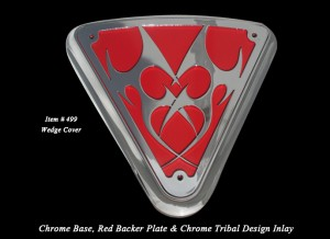 Victory Wedge Side Cover Tribal Chrome Red Victory Customizing
