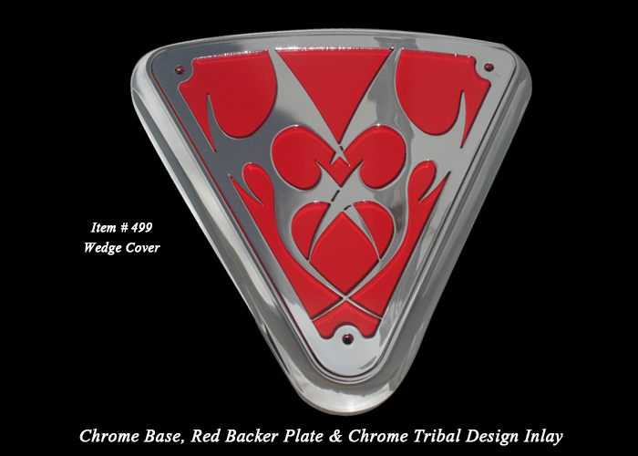 Victory Custom Motorcycle Parts Wedge Cover Tribal Red