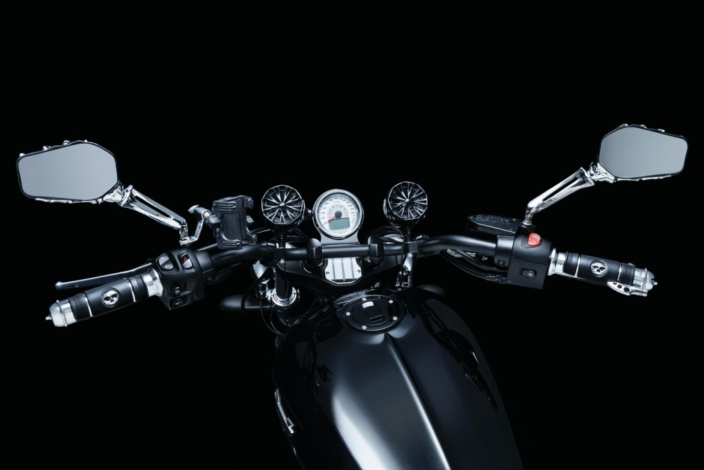 victory motorcycle skeleton hand mirrors
