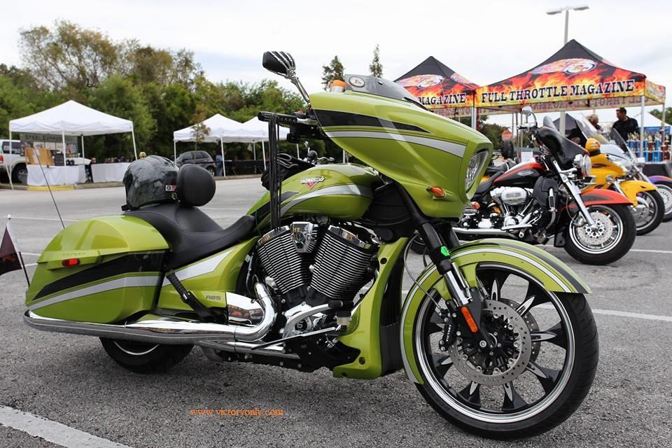 Super Victory Motorcycle Mirror Set Chrome Skeleton Hand and Black  HW71
