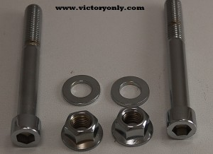 Motor Mount Chrome Bolt Set