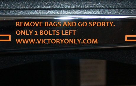 Victory Motorcycle removable motorcycle saddlebags system, perfect for installing and removing saddlebags in seconds. They provide safety and security with models for most US and import cruisers. They are easy to install. They do not require the use of saddlebag support brackets. All metal construction with black powder coating for strength and durability. All hardware for mounting provided. Please note, when you purchase 1 set of Easy Brackets the kit includes both the left and right side brackets and all required mounting hardware