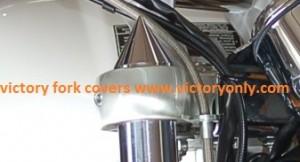 Fork Covers Spike Black or Chrome Custom