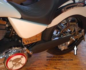 AXLE CAP REAR SPIKE CHROME CUSTOM BOLT CAP VICTORY MOTORCYCLE