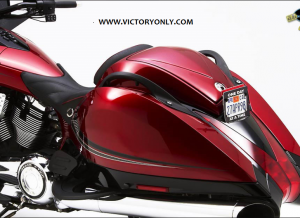 VICTORY MOTORCYCLE CORBIN SEAT TRUNK SMUGGLER COLOR MATCH
