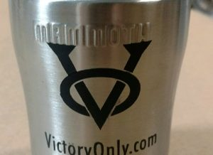 Can Cooler Insulated Victory Only Logo Black