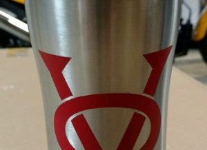 victory motorcycle stainless steel mug hot or cold with ceramic logo painted by victory only